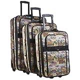 World Traveler Route 66 3-Piece Expandable Luggage Set