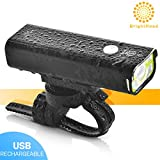 Cheap BrightRoad The Original LED Bicycle Rechargeable Headlight | 800 Lumens for a Brighter Bike Light | Wide & Long Cover Range, 85° & 650ft | IPX6 Waterproof | for Any Terrain & Weather | Bike Lights