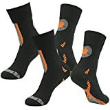 RANDY SUN Waterproof Breathable Socks, Men's Performance Colorful Trail Hiking Through Water Novelty Wader Socks 2 Pairs Black S
