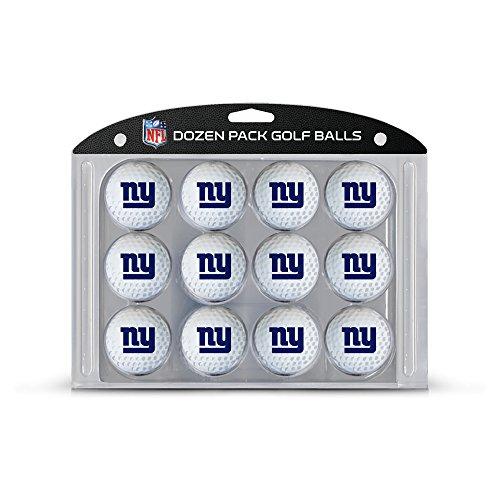 Team Golf NFL New York Giants Dozen Regulation Size Golf Balls, 12 Pack, Full Color Durable Team Imprint