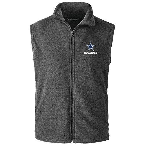 NFL Dallas Cowboys Mens Houston Fleece Vest, Grey, X-Large