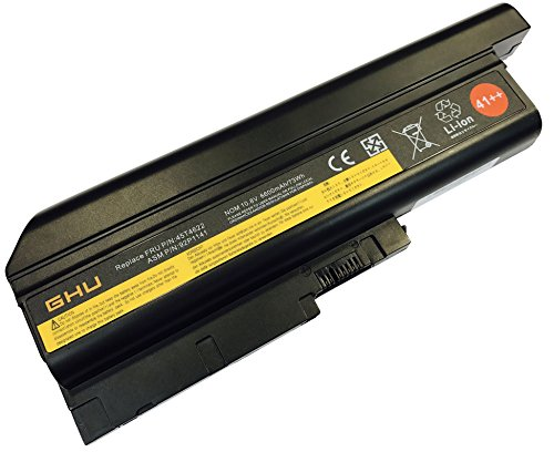 New GHU Battery 73 WH Replacement for 41++ 40Y6797 40Y6799 42T4619 42T4620 92P1133 40Y6795 92P1133 Compatible with Lenovo T60 R60 R60e T60p Z60 Z60m Z61 Z61p T500 W500 R500 SL300 SL400 SL500 (Fru Ibm 92p1127 Replacement)