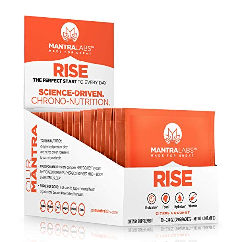 Rise Hydration Drink Powder by MANTRA Labs – Nootropic Hydration Powder Packets with Vitamins & Antioxidants. Focus…