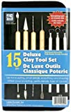 Deluxe Clay Tool Set-15 Pieces
