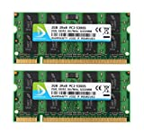 5300s - DUOMEIQI 4GB (2 X 2GB) 2RX8 PC2-5300 PC2-5400 DDR2 667MHz 200 Pin 1.8v SODIMM Notebook RAM Laptop Memory Module