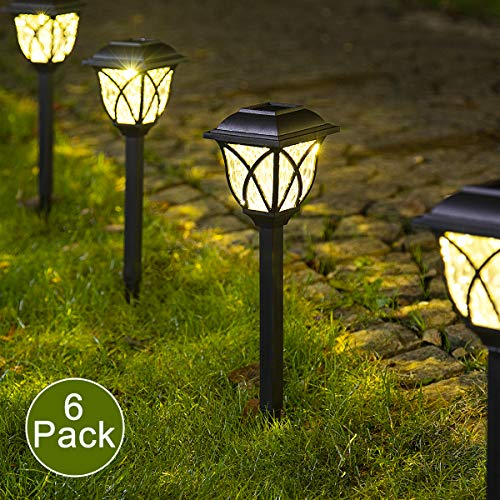 Solpex Solar Pathway Lights Outdoor LED Solar Garden Lights Waterproof Solar Landscape Lights for Lawn Patio Yard Garden Walkway 6 Pack