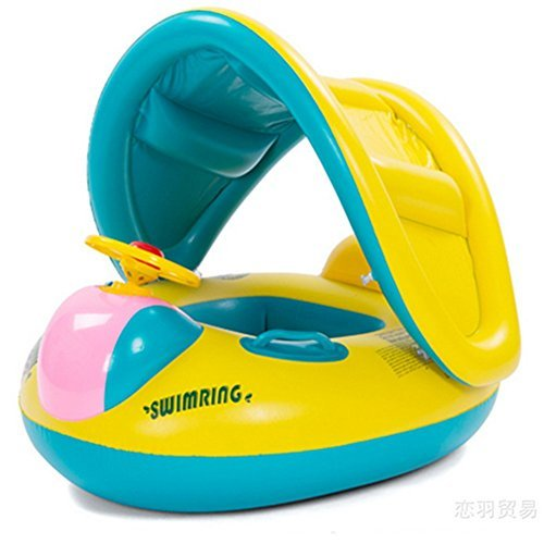 MAXU Inflatable Swimming Baby-swim Float Ring Swim Pool Bath