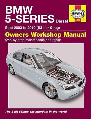 bmw 5 series diesel service and repair manual 03 10 haynes rh amazon com bmw 5 series f10 repair manual bentley paper repair manual bmw 5 series (e60 e61)