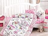 Bekata Rabbit Baby - 100% Cotton Duvet Cover Set - Toddler Bedding Set 4 Pieces