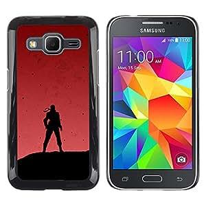EJOY---Cubierta de la caja de protección la piel dura para el / Samsung Galaxy Core Prime / --Soldado y Red Sky