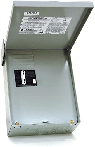Midwest Electric Products 50 Amp 240-Volt 240-Watt Non-Fuse Metallic Spa Panel Disconnect with GFI