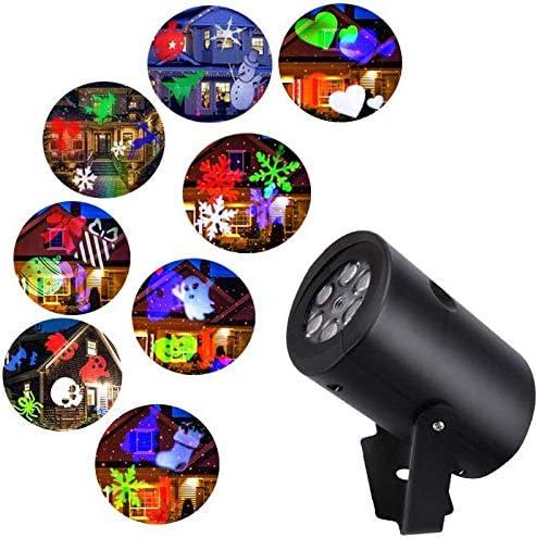 Comtervi Lámpara de proyección LED proyector Luces, 12 Efectos de ...