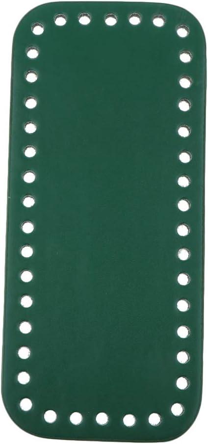 PU-Leder 42 L/öcher Einlegeboden Bag Shaper Taschenboden Tascheneinlegeboden Zum H/äkeln f/ür Handtaschen Taschen Gr/ün