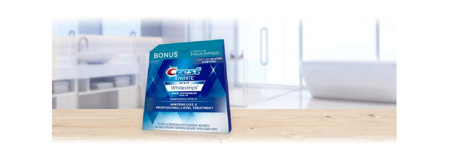 Crest 3 D White Professional Effects Whitestrips Whitening Strips Kit, 22 Treatments, 20 Professional Effects + 2 1 Hour... by Crest