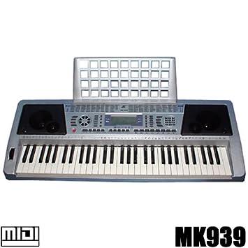 Teclado 61 teclas DynaSun MK939 LCD MIDI Respuesta Táctil Pitch Bend Keyboard E-Piano Electronico Digital Función Enseñanza Inteligente: Amazon.es: ...