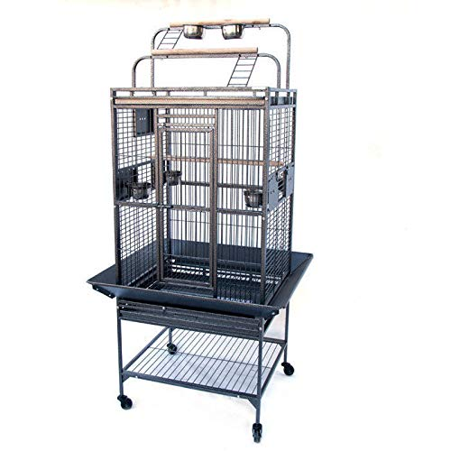 Small Flyline Grey Palace Play Top Bird Cage Parred Aviary (Small)