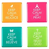 Keep Calm Inspirational Fridge Magnet Set (4)