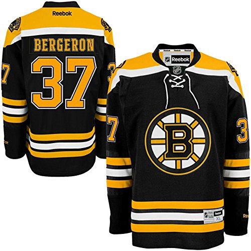 NHL Boston Bruins 37 Patrice Bergeron Men's Premier Jersey Black color Size M