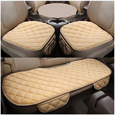 Guocu Sitzkissen Universal Sitzauflagen Autositzbezüge Bambuskohle Pu Leder Sitzauflage Beige 1 Vordersitz Rücksitz Auto