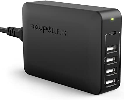 USB C Pd Charger, RAVPower 60W 5-Port USB Desktop Charging Station with 45W Power Delivery Port, Compatible iPhone 11/Pro/ Max, Ipad Pro 2018, ...