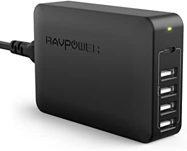 USB C Pd Charger, RAVPower 60W 5-Port USB Desktop Charging Station with 45W Power Delivery Port, Compatible with iPhone 12 Mini Pro Max, Ipad Pro 2018, MacBook, Galaxy S9 S8, Nintendo and More