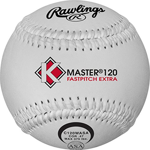Rawlings K-Master Fastpitch Softball, 12 Count, C120WASA by Rawlings