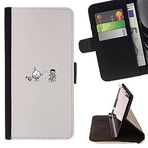 BullDog Case - FOR/Apple Iphone 4 / 4S / - / Onion Vs Vampire - Funny /- Monedero de cuero de la PU Llevar cubierta de la caja con el ID Credit Card Slots Flip funda de cuer