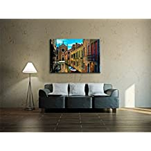 Dc Direct - Realistic Canvas Prints Artwork Abstract Symbol Paintings on Canvas Wall Art for Living Room Bedroom Home Modern Decorations (The Old Street of Venice, Size: 60cm x 90cm)
