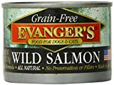 EVANGER'S 776241 24-Pack Grain Free 100-Percent Wild Salmon for Dogs and Cats, 6-Ounce