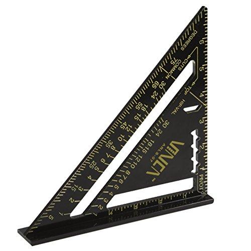 VINCA ARLS-07 Aluminum Rafter Carpenter Square 7 inch Measuring Layout Tool