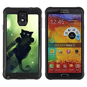 BullDog Case@ Green Cat Rugged Hybrid Armor Slim Protection Case Cover Shell For Note 3 Case ,N9000 Leather Case ,Leather for Note 3 ,Case for Note 3 ,Note 3 case