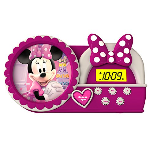 Minnie Bowtique Night Glow Alarm Clock, MM-346