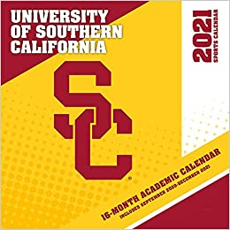 Usc Calendar 2021 Usc Trojans 2021 12x12 Team Wall Calendar: 9781469378114: Amazon
