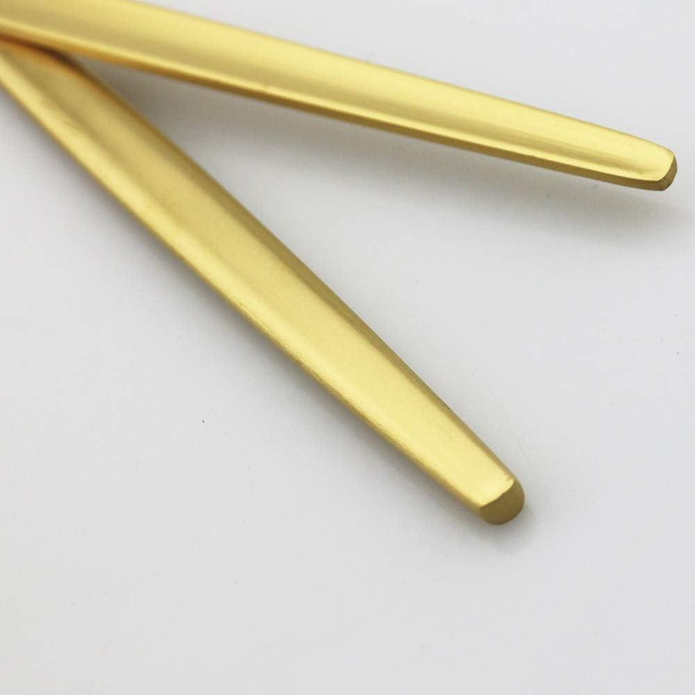 6 Coltelli Set Di Posate Monoblocco In Acciaio Inox 18//10 6 Cucchiaini Da T/é 6 Forchette Dolce 6 Cucchiai Per 5 Persone 30 Pezzi: 6 Forchette Black
