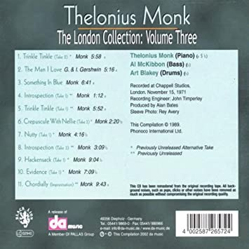 monklonious london collection 3 amazon com music