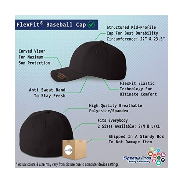 Flexfit Hats for Men & Women Dog Border Collie Lifeline Embroidery Polyester 2