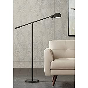 Dawson Modern Pharmacy Floor Lamp Dark Bronze Adjustable Boom Arm and Head for Living Room Reading Bedroom Office – 360 Lighting