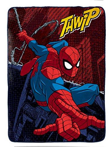 Marvel Spiderman Burst Plush Twin Blanket, 62