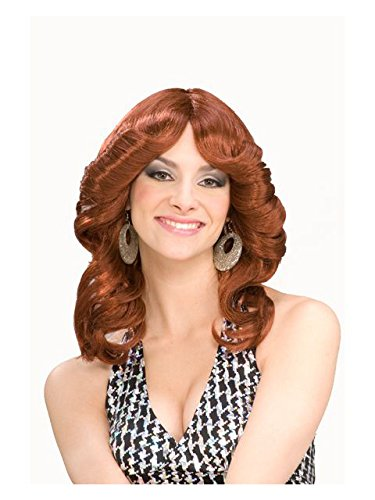 Forum Novelties Women's 70's Disco Doll Costume Wig, Auburn, One Size ()