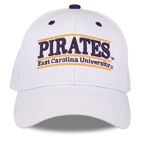 NCAA East Carolina Pirates Unisex NCAA The Game bar Design Hat Pirates, White, Adjustable