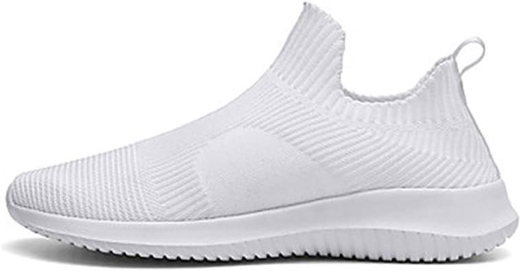 Calzado de Confort for Hombre Zapatillas de Deporte Tissage Volant Primavera y Verano Mocasines Deportivos y Deportivos Zapatillas Transpirable .Zapatos de Moda (Color : White, Size : US7.5): Amazon.es: Zapatos y complementos