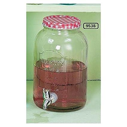 Dispensador de bebidas frías, dispensador de botella de country style, 26 cm, diámetro