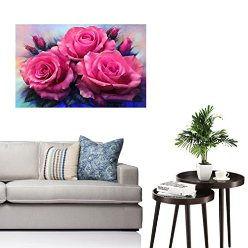 Boddenly Red Rose 5D Diamond Rhinestone Pasted Embroidery Cross Stitch Painting For Home Decor and Gift M by Boddenly