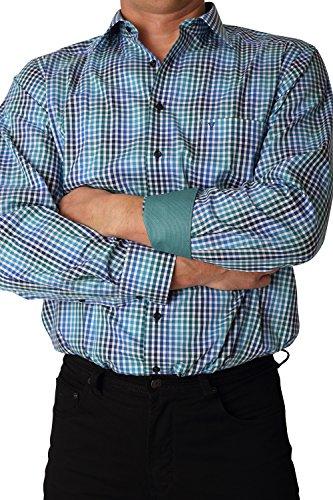 MARVELiS Hemd 2704-64-49 MODERN-FIT dunkelgrün langarm