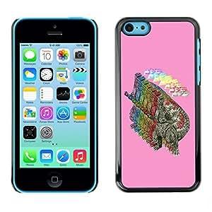 SoulCase / Apple Iphone 5C / Pop Art Gorzilla Dinosaur / Slim Black Plastic Case Cover Shell Armor