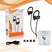 JTD ® Premium Wireless Bluetooth 4.1 Headphones Noise Cancelling light-weight sweat proof Headphones with Microphone,Great for Sports,Running,Gym,Exercise-Wireless Bluetooth Earbuds Headset Earphones