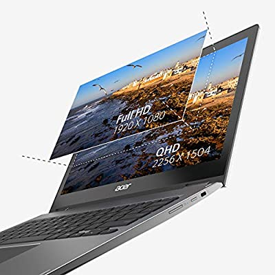 """Acer Chromebook Spin 13 CP713-1WN-53NF 2-in-1 Convertible, 8th Gen Intel Core i5-8250U, 13.5"""" 2K Resolution Touchscreen, 8GB LPDDR3, 128GB eMMC, Backlit Keyboard, Aluminum Chassis"""