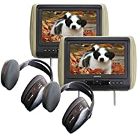 (2) Audiovox AVXMTGHR9HD 9 Headrest Monitor Systems w/ Built in DVD Player