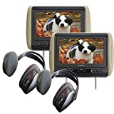 (2) Audiovox AVXMTGHR9HD 9'' Headrest Monitor Systems w/ Built in DVD Player