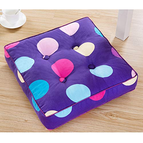 Home Office Decor Square Seat Cushion Floor Chair Back Cushions Sofa Buttocks Pad Thick Cotton Mat For (Rounded Bottom Wheelchair Cushion)